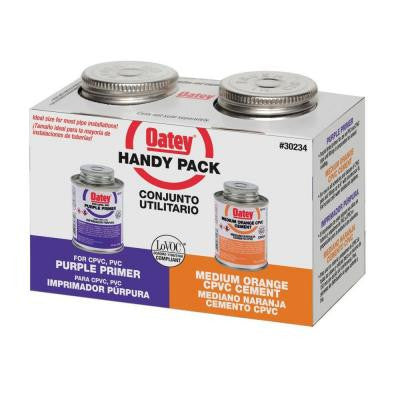 4 oz. PVC/CPVC Cement and Primer - Handy Pack