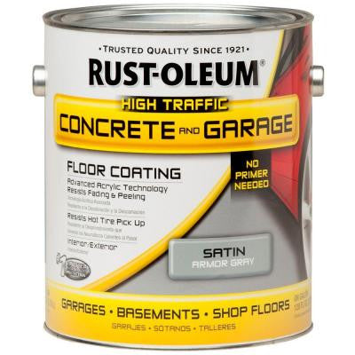 1 gal. Armor Gray Concrete Floor Paint (2-Pack)