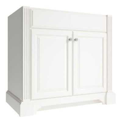 Exeter 36 in. W x 21 in. D x 34.5 in. H Vanity Cabinet Only in Snowdrift