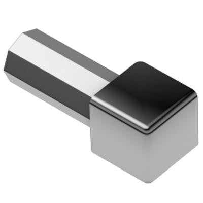 Quadec Polished Chrome Anodized Aluminum 5/16 in. x 1 in. Metal Inside/Outside Corner