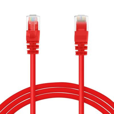 2 ft. Cat5e RJ45 Ethernet LAN Network Patch Cable - Red (16-Pack)