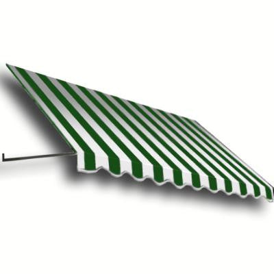 18 ft. Dallas Retro Window/Entry Awning (24 in. H x 48 in. D) in Forest/White Stripe