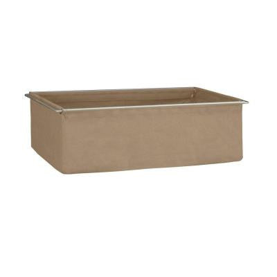 17 in. x 20 in. Mocha Fabric Drawer with Frame