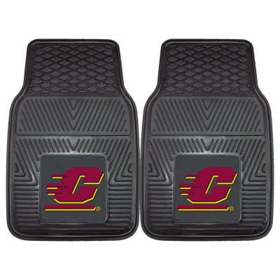 NCAA Central Michigan University Heavy Duty 2-Piece 18 in. x 27 in. Vinyl Car Mat
