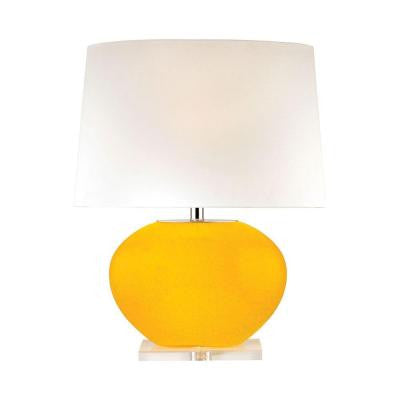 Orly 24.5 in. Yellow Table Lamp with Shade