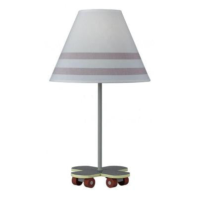 Cooper 21 in. Gray Skate Board Incandescent Novelty Lamp