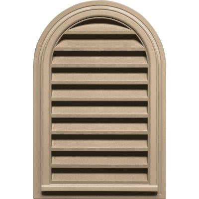 22 in. x 32 in. Round Top Gable Vent #069 Tan