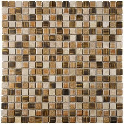 Pangea Zealandia 11-3/4 in. x 11-3/4 in. x 8 mm Porcelain Mosaic Wall Tile