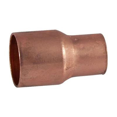 1/2 in. x 1/4 in. Copper Pressure Cup x Cup Reducing Coupling with Stop