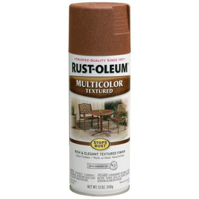 12 oz. Multi-Colored Textured Rustic Umber Protective Enamel Spray Paint (Case of 6)