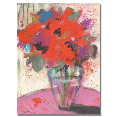 35 in. x 47 in. Scarlet Bouquet Canvas Art