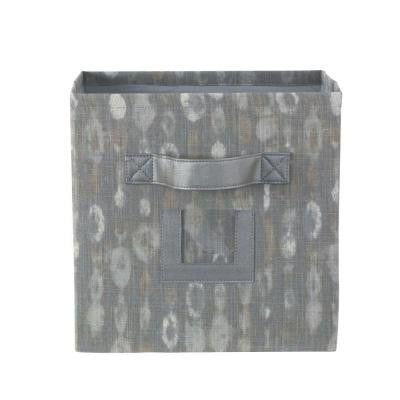 10.75 in. W x 11 in. H Amba Grey Fabric Storage Bin with Handle