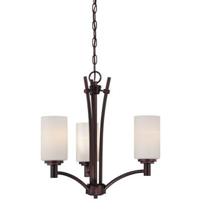 Pittman 3-Light Sienna Bronze Chandelier