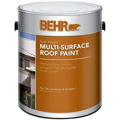1-gal. White Reflective Flat Multi-Surface Roof Paint