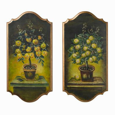 37 in. Lemon Tree Wall Panel (2-Piece)