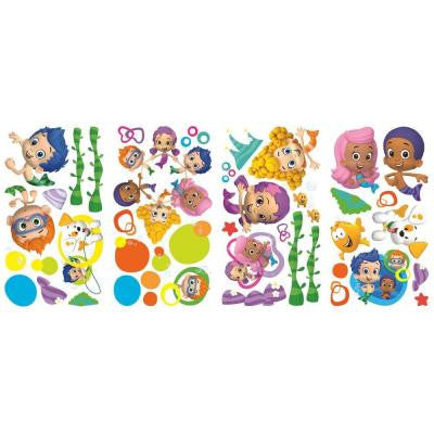 5 in. x 11.5 in. Bubble Guppies Peel and Stick Wall Decals