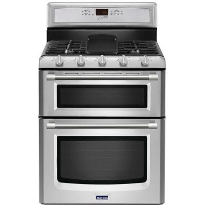 Gemini 6.0 cu. ft. Double Oven Gas Range with Self-Cleaning Convection Oven in Stainless Steel