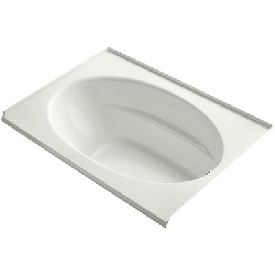 Windward 5 ft. Right Drain Soaking Tub in Dune