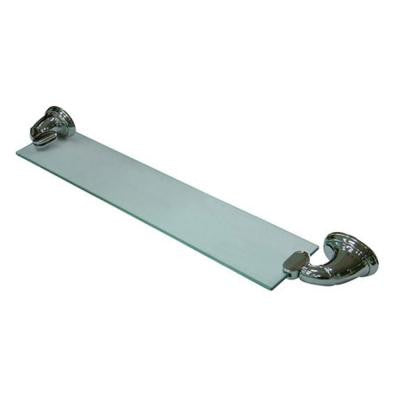 Magellan 19.5 in. W Glass Bathroom Shelf in Polished Chrome
