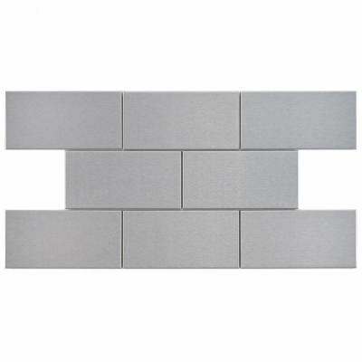 Alloy Subway 3 in. x 6 in. Stainless Steel Over Porcelain Wall Tile (1 sq. ft. / pack)