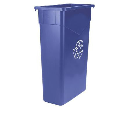 TrimLine 15 Gal. Blue Imprinted Recycling Waste Container (4-Pack)