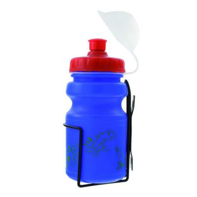 12 oz. Blue Children's Bicycle Water Bottle and Cage Set
