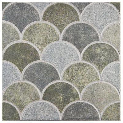 Escama Sage 13-1/8 in. x 13-1/8 in. Ceramic Wall and Floor Tile (7.22 sq. ft. / case)
