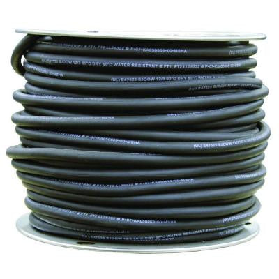 250 ft. 12-3 SJOOW 300-Volt Rubber Cord - Black