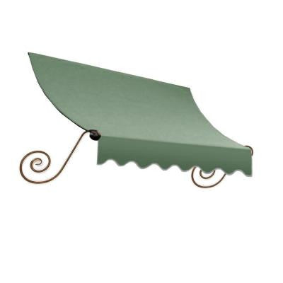6 ft. Charleston Window Awning (56 in. H x 36 in. D) in Sage