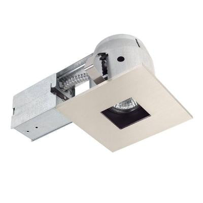 4 in. Square Recessed Brushed Nickel Lighting Kit