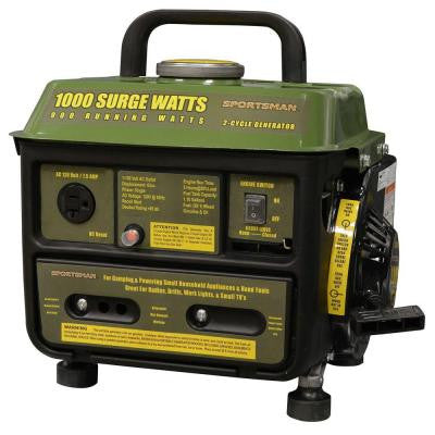 1,000-Watt 2-Stroke Gasoline Powered Portable Generator with Brushless Motor
