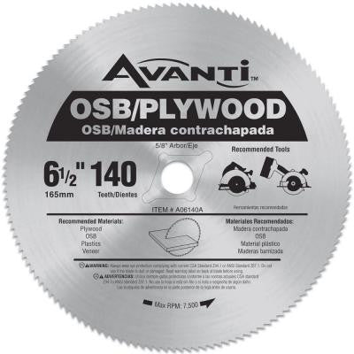 6-1/2 in. x 140-Tooth OSB/Plywood Saw Blade