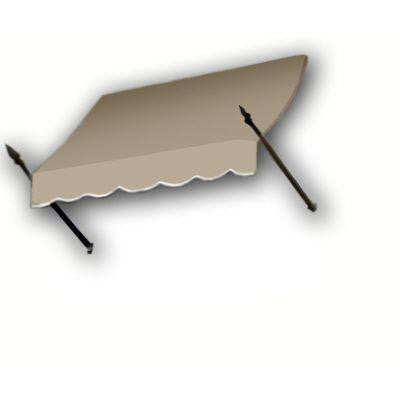 4 ft. New Orleans Awning (44 in. H x 24 in. D) in Tan
