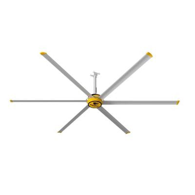 3600 144 in. Yellow and Silver Aluminum Shop Ceiling Fan