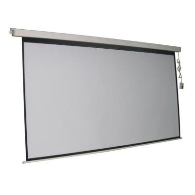 ProHT 120 in. Electric Projection Screen with White Frame
