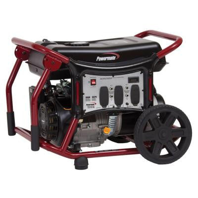 5,500-Watt Gasoline Powered Manual Start Portable Generator