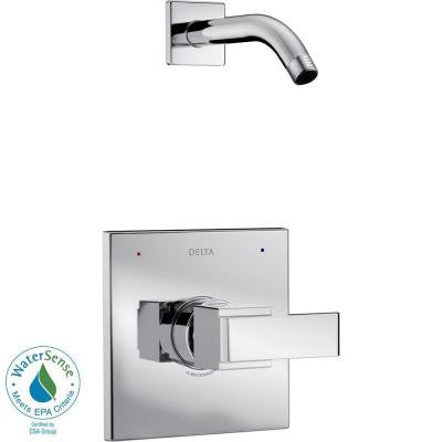 Ara 1-Handle Shower Faucet Trim Kit in Chrome with Less Shower Head (Valve and Showerhead Not Included)