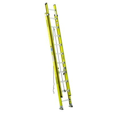 20 ft. Fiberglass Round Rung Extension Ladder with 375 lb. Load Capacity Type IAA Duty Rating