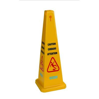 36 in. 4 Sided English/Spanish/French Caution Cone (Case of 3)