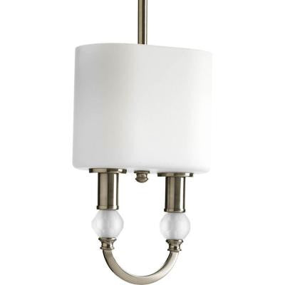 Splendid Collection 2-Light Brushed Nickel Mini Pendant