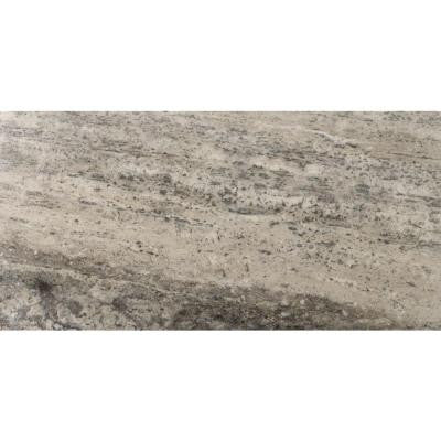 Travertine Silver Veincut Filled and Honed 12 in. x 24 in. Travertine Floor and Wall Tile
