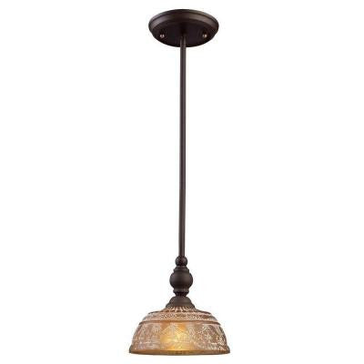 Norwich 1-Light Oiled Bronze Ceiling Mount Pendant