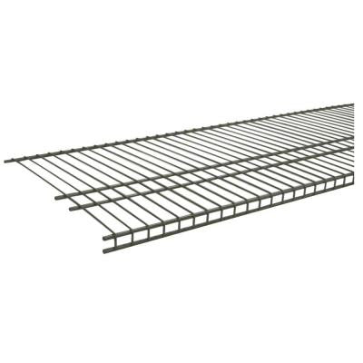 SuperSlide 6 ft. x 16 in. Nickel Ventilated Wire Shelf