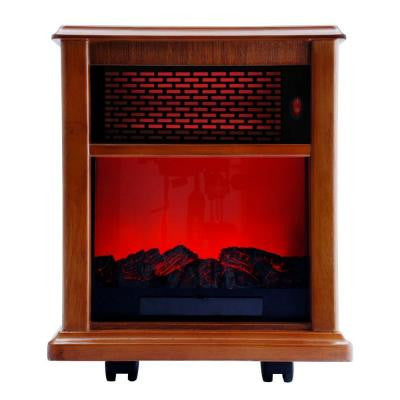 Fireplace 1500-Watt Infrared Electric Portable Heater Solid wood Construction - Tuscan