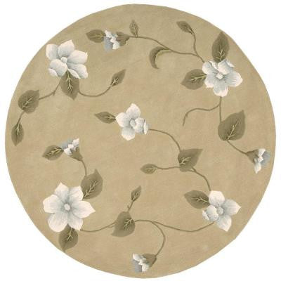 Julian Light Gold 8 ft. Round Area Rug