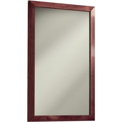 City 16.5 in. W x 26.5 in. H x 5.25 in. D Recessed or Surface Mount Mirrored Medicine Cabinet in Chestnut