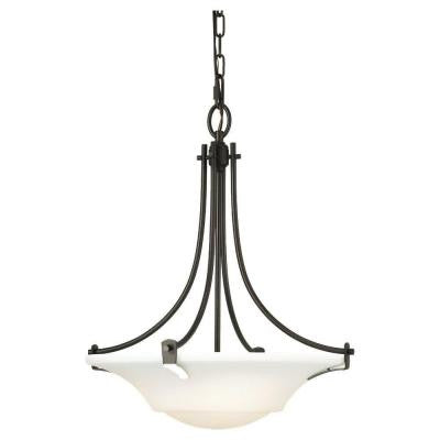 Barrington 3-Light Oil Rubbed Bronze Uplight Chandelier
