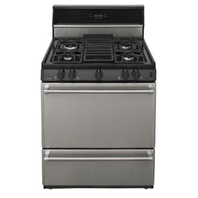ProSeries 30 in. 3.91 cu. ft. Freestanding Gas Range in Stainless Steel