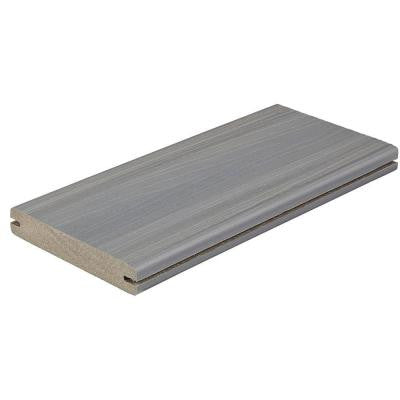Horizon 1 in. x 5-1/4 in. x 12 ft. Castle Gray Grooved Edge Capped Composite Decking Board (10-Pack)