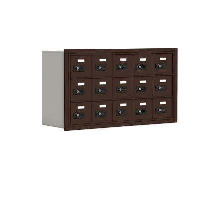 19000 Series 37 in. W x 20 in. H x 8.75 in. D 15 A Doors R-Mount Resettable Locks Cell Phone Locker in Bronze